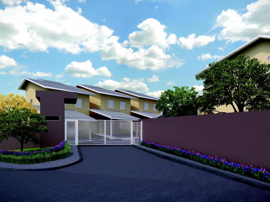 Entrada do Residencial Condomínio Araucária - * perspectivas ilustrativas, sujeitas a modificação.